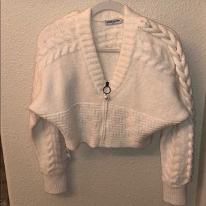 Opening ceremony cable knit crop sweater
